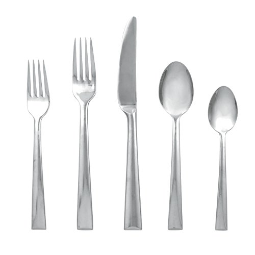 - Lenox Continental Dining Stainless-Steel 5-Piece Place Setting, Service for 1
