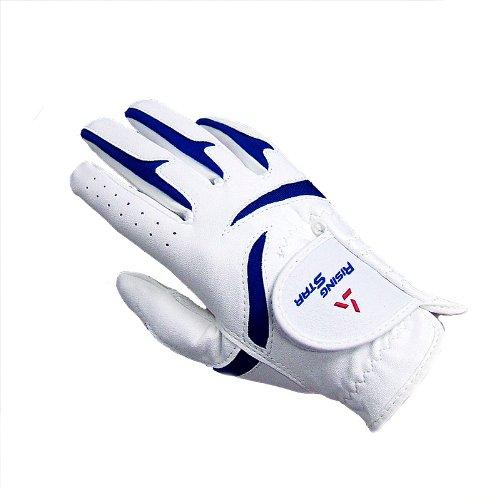 Free Paragon Golf Boys Rising Star Right Hand Golf Glove, White/Blue - Medium