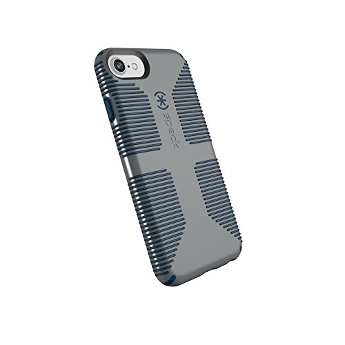 Speck Products CandyShell Grip Cell Phone Case for iPhone 8/7/6S/6 - Gravel Grey/DEEP Sea Blue Blue Cell Phone Case