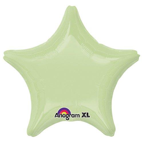 Anagram 23022 Star Leaf Green Foil Balloon 19,