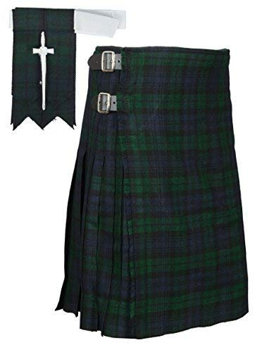 8 Yard Black Watch Traditional Tartan Kilt Belly Button 42