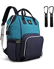 Hafmall Baby Diaper Bag, Large Travel Backpack with Stroller Straps for Mom Dad