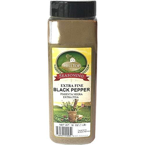 Hilltop Foods Premium Extra Fine Black Pepper 1 Pound