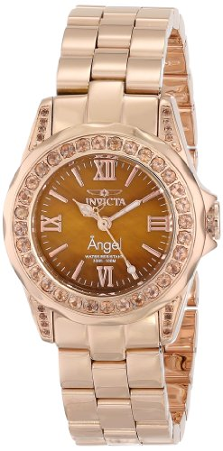 Invicta Women's 15051 Angel Analog Display Swiss Quartz Rose Gold Watch