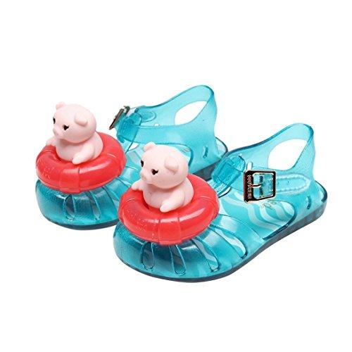 Hot Sale Ragazze Ragazzi? Maiale salvagente?Gomma da cancellare Impermeabile sandali?casual da pioggia Scarpe (Viola, Asia:25/26/EU:24/25)