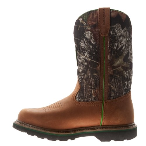 John Deere Mens 11 Mossy Oak Camo Boot Tan Mos Oak
