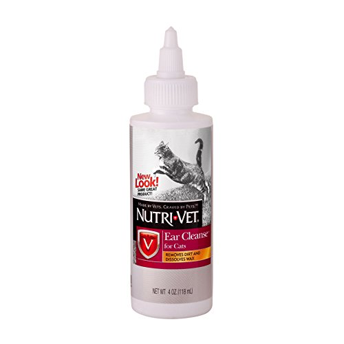 Nutri-Vet Ear Cleansing Liquid for Cats, 4-Ounce