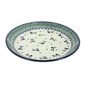 Blue Rose Polish Pottery Mission Olive Dessert Plate