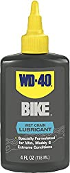 Wd-40 Bike Wet Chain Lubricant - Wax-free Bicycle Chain Lube For Wet Conditions. 4 Oz. (Pack Of 1)