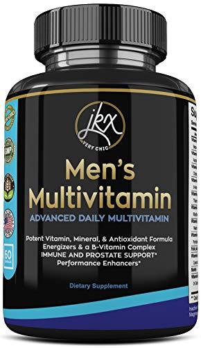 Multivitamin for Men with Magnesium, Biotin, Spirulina, Zinc, Folic Acid, Calcium, Garlic, Multi Vitamin Mens A C E D B1 B2 B3 B5 B6 B12, Prostate Supplements Support for Men, (60 Caps)