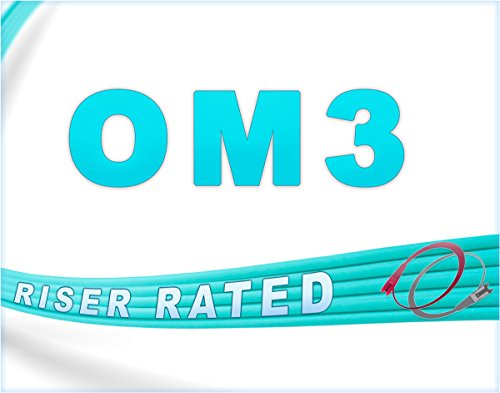 FiberCablesDirect - 100M OM3 LC ST Fiber Patch Cable   10Gb Duplex 50/125 LC to ST Multimode Jumper 100 Meter (328ft)   Length Options: 0.5M-300M   ofnr mmf lc-st dx 10gig spf+ lc/st aqua patchcord by FiberCablesDirect (Image #6)
