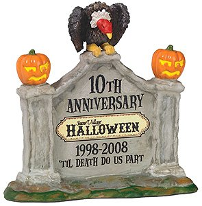 805026 Dept 56 Snow Village Til Death Do Us Part Halloween Our Tenth Anniversary Sign (Halloween Costumes Stores In Nj)