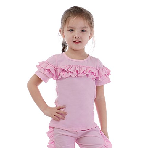 T-shirt Toddler Angel (Summer Baby Girl Cotton Tops Wholesale Children's Fashion Ruffle T-Shirts)