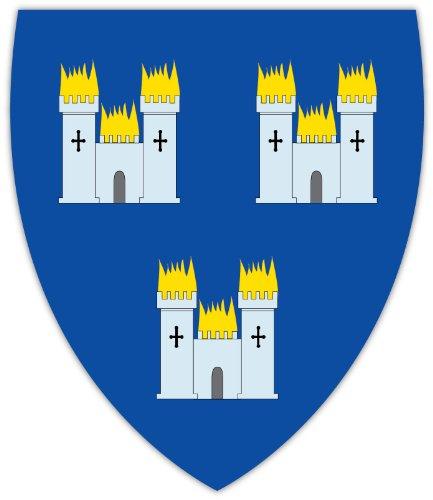 - Dublin Ireland coat of arms sticker decal 4