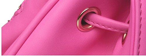Yiji Top handle Women's Mini Backpack Drawstring Pink Washed rSBrq