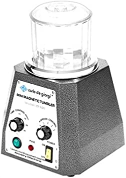 130mm TFCFL Magnetic Tumbler Jewelry Polisher 110V Magnetic Grinding and Polishing Machine 4 Speeds Control Jewelry Polisher Tumbler 5.12 inch for Platinum Gold Silver Stainless Steel