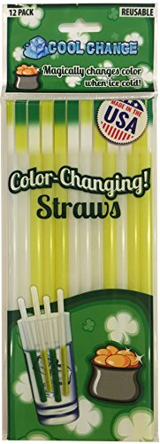 Cool Change Color Changing Straws - St Patricks Day Fun