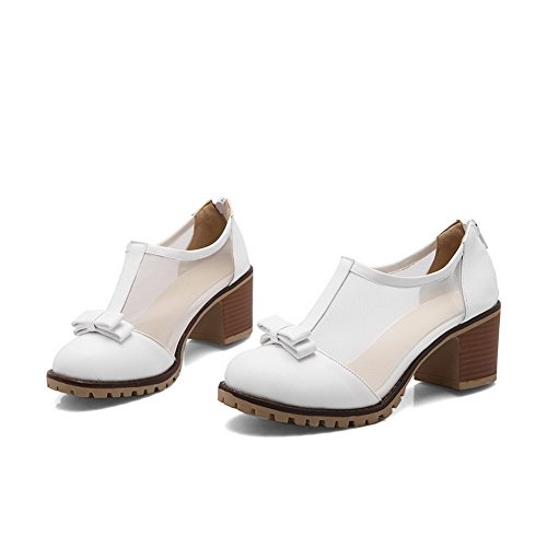 Poliuretano Pumps Adee Womens In Bianco Zip Bows xfpfwCqtX