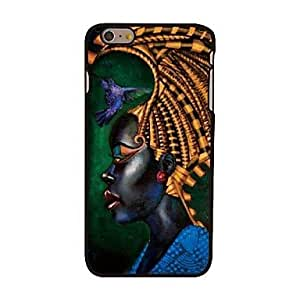 Zaki African Woman Style Plastic Hard Back Cover for iPhone 6 Plus