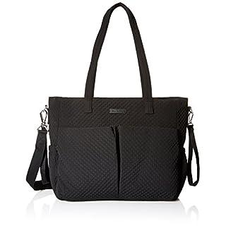 Vera Bradley Women's Microfiber Ultimate Baby Diaper Bag, Classic Black