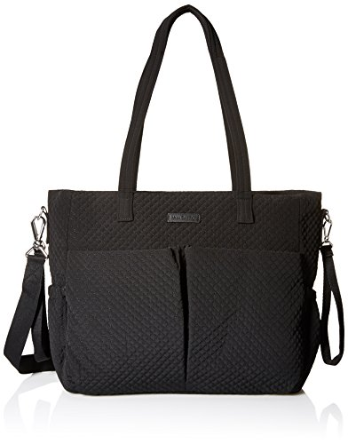 Vera Bradley Women's Microfiber Ultimate Baby Diaper Bag, Classic Black