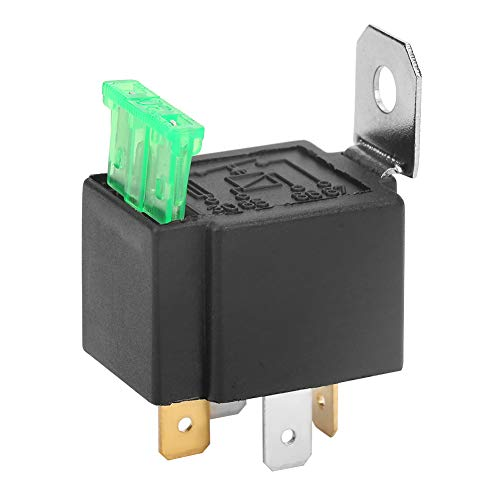 Automotive Fused Relay, Black 4-Pin DC 12V 30A Fused Relay Car Normally Open Contacts Fused Relay On/Off With Bracket Fused Relay Box: Amazon.co.uk: Business, Industry & Science