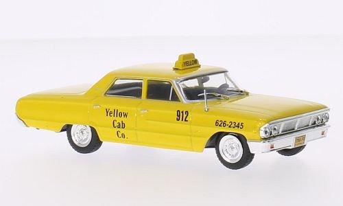 Ford Galaxie 500, New York taxi, 1967, Model Car, Ready-made, WhiteBox 1:43