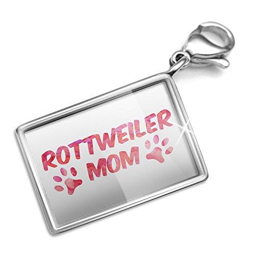 Clip on Charm & Bracelet Set Dog & Cat Mom Rottweiler Lobster Clasp (Jewelry Rottweiler)