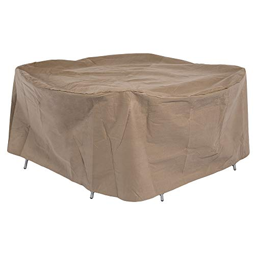 Duck Covers Essential Round Patio Table & Chair Set Cover, Fits Outdoor Round Patio Table and Chair Sets 76 in. Diameter