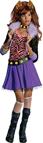 [Monster High Clawdeen Wolf Costume - One Color - Large] (Monster High Cleo De Nile Halloween Costumes)