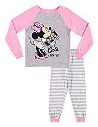 Girls 2-Piece Cotton Pajama Set, Top & Jogger Pants
