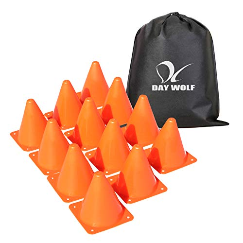 Sports Cones Perfect for Exercise Sports and Outdoor Activity Toy Construction or Traffic Cones Soft Flexible Cone Design Shatterproof 7