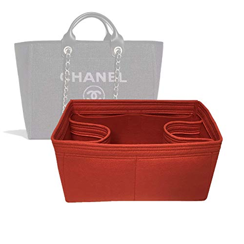 Zoomoni Chanel Deauville Tote (Medium) Purse Organizer Insert - Premium Felt (Handmade/20 Colors)