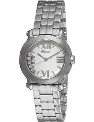 Chopard Womens 278509-3002 Happy Sport Mini Diamond White Dial Watch