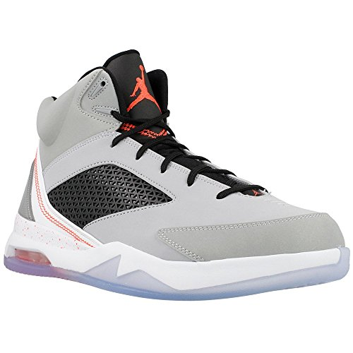 Jordan Mens Nike Air Jordan Flight Remix Basketball Shoes-Wolf Grey/Infrared 23-11