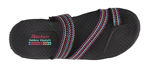 Skechers Donna, Reggae Sarasota Sandali Slide Neri