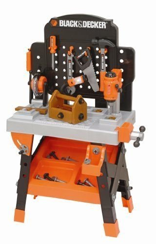 Black & Decker Kids Tool Set Toy Workshop Power Tools Box Bench Pretend Play by Toy Gift
