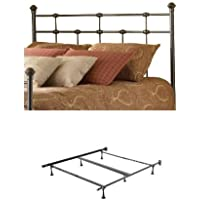 Dexter Metal Headboard with frame, Hammered Brown, Queen