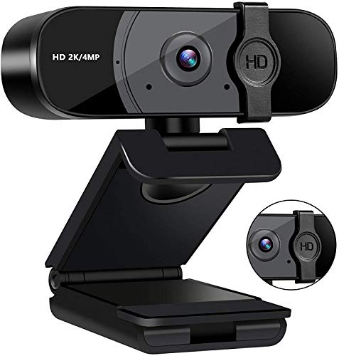 Taotuo Webcam Computer Microphone 2k4MP1440P Computer Camera with Privacy CoverPlug and Play USB