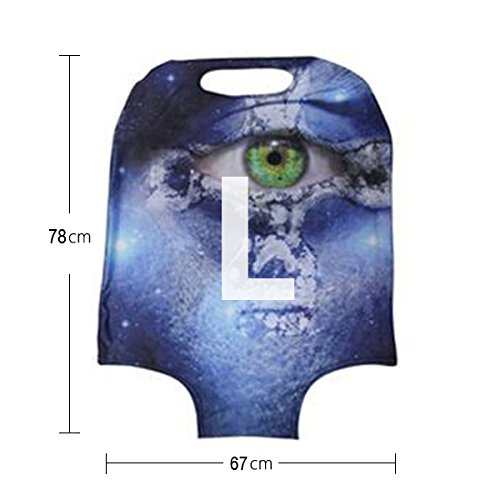 For U Designs 26-30 Inch Large Fashion Love Heart Style Printed Luggage Covers Spandex Suitcase Cover for Woman by For U Designs luggage cover (Image #2)