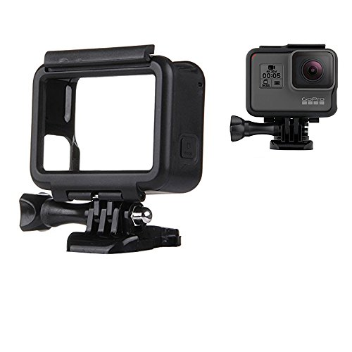 Gopro Hero 5 Frame Mount Housing, JingXiGuoji Bike Handlebar Mount, Screen Protective Film, Helmet 3M Adhesive Mount, Housing Border Protective Shell Case for GoPro Hero 5 Camera