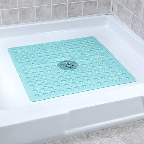 - SlipX Solutions Aqua Square Shower Stall Mat Provides Reliable Slip-Resistance (21