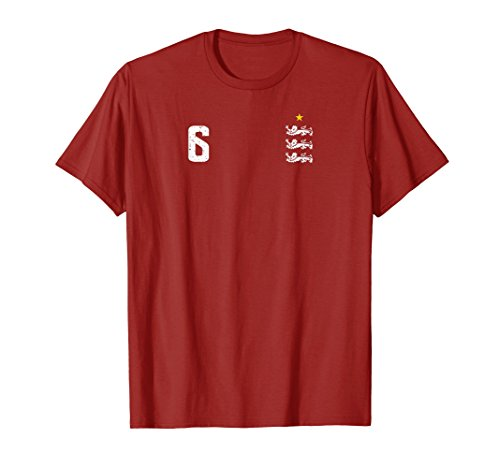 England 1966 Number 6 Retro Soccer T-Shirt