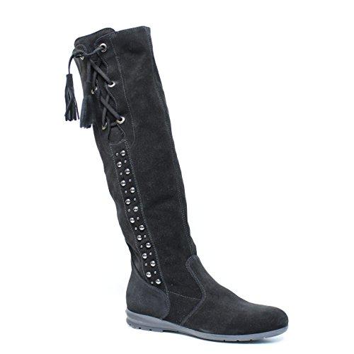 Nero Giardini Art.. A005062D-100 Stiefel aus schwarzem Leder A0 05062 D