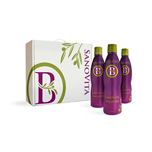 3 Bottle of Bellavita Sanovita Mediterranean Diet No Added Sugar Free Express Shipping by Bella Vita