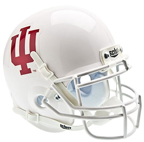 Schutt Indiana Hoosiers Mini Authentic Helmet - White - NCAA Licensed - Indiana Hoosiers Collectibles