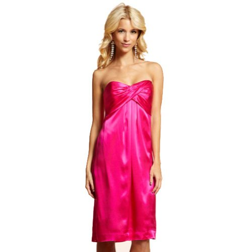 New Sexy Strapless Mini Silk Purple Cocktail Dress (Small)