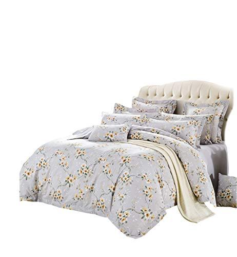 Silk Camel Luxury 300TC 100% Cotton 3-Piece Bedding Set - 1 Duvet Cover 2 Pillow Shams (Sunny Winter - Queen Size)