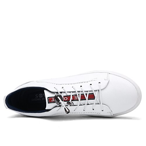 Minishion Ragazzi Mens Moda Outdoor Athletic Lace-up Moda Sneaker Bianco