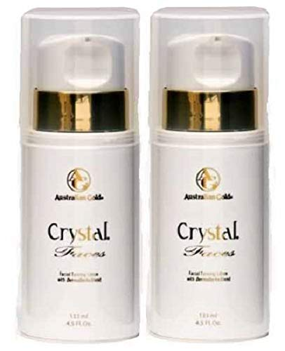 LOT of 2 Australian Gold Crystal Faces Facial Tanning Lotion for Face 4 Oz
